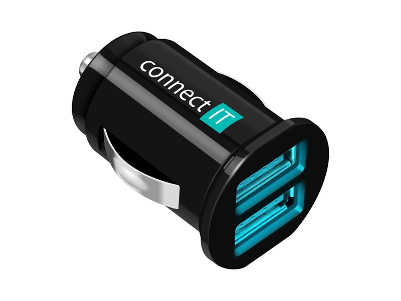 Nabíječka do auta CONNECT IT CI-176 InCarz nabíječka do auta 2xUSB 2.1A+1A, černá