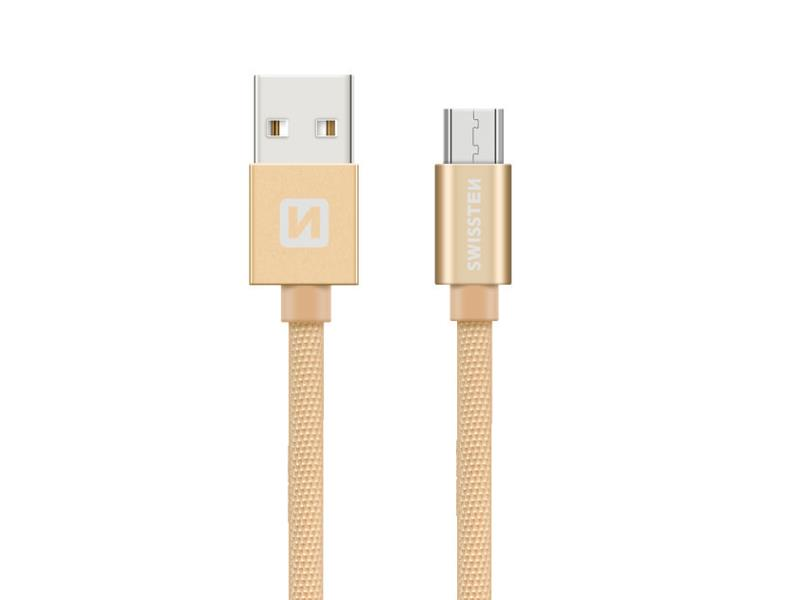 Kabel SWISSTEN USB/Micro USB 0,2M zlatý