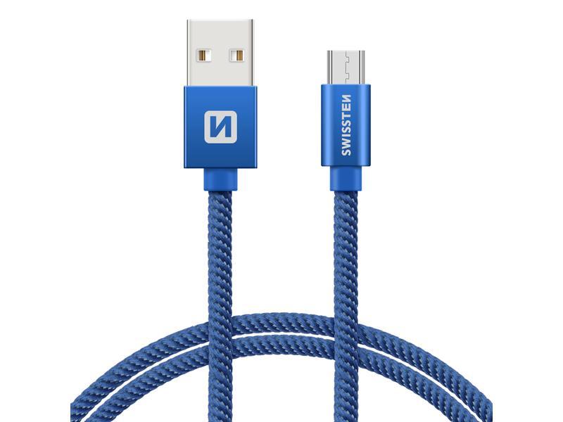 Kabel SWISSTEN USB/Micro USB 0,2M modrý