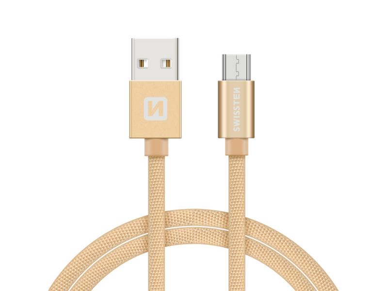 Kabel SWISSTEN USB/Micro USB 1,2M zlatý