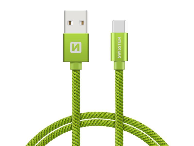 Kabel SWISSTEN USB/USB-C 1,2M zelený