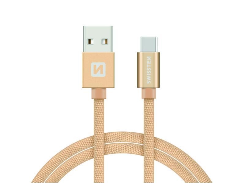 Kabel SWISSTEN USB/USB-C 1,2M zlatý