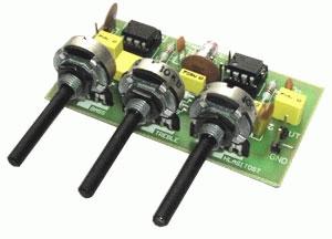Stavebnica TIPA PT007 Gitarový a mikrofóny korekčný predzosilňovač