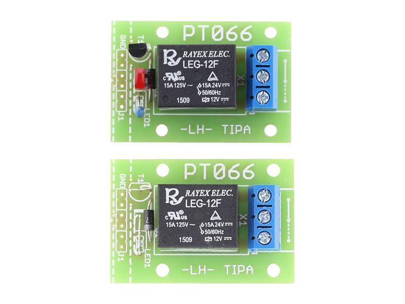 Stavebnice TIPA PT066A Relé deska se spínacím tranzistorem a LED