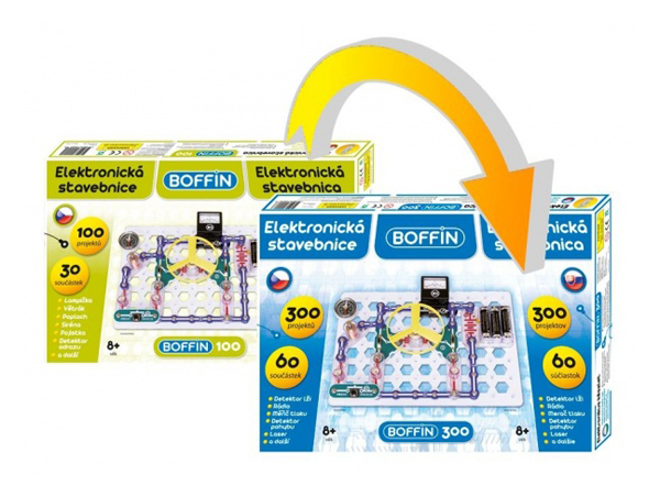 Elektronická stavebnica BOFFIN I 100 - rozšírenie na BOFFIN I 300