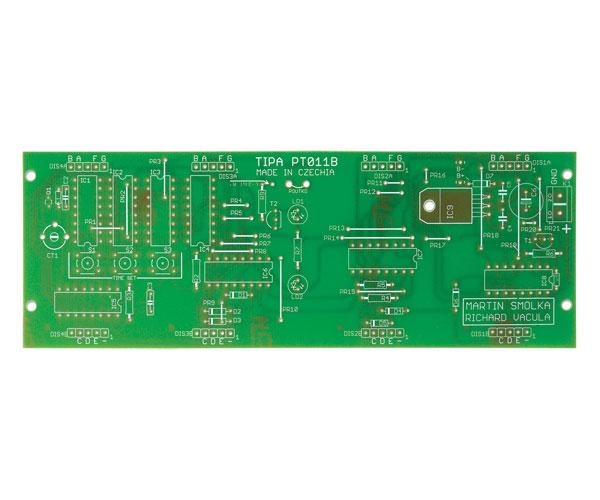 Plošný spoj TIPA PT011B CMOS digitálne hodiny s voliteľnými LED displejmi