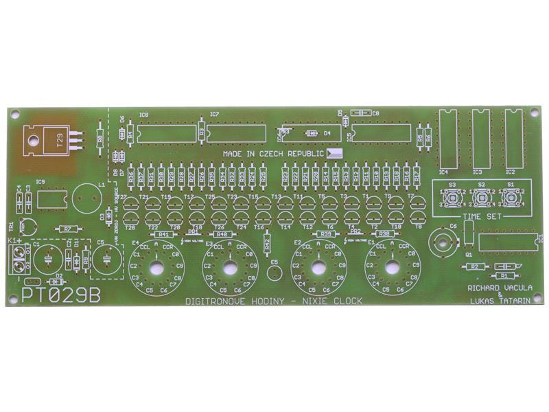 Plošný spoj TIPA PT029B Digitrónové hodiny