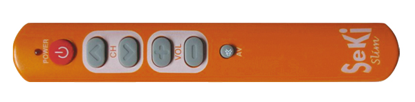 Ovládač diaľkový SEKI SLIM oranžový pre seniorov - univerzálny - veľké tlačidlá
