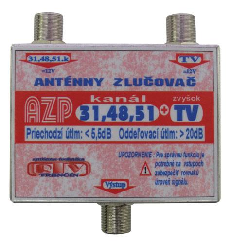 Anténní slučovač AZP31,48,51+TV F-F DOPRODEJ