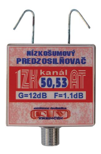 Anténní zesilovač 1ZK50,53AT 12dB F DOPRODEJ