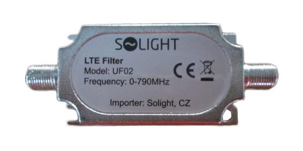 Pásmový LTE filtr, rozsah 0-790MHz, max. 60. kanál DvB-T