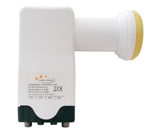 Satelitní konvertor Interstar GI204 0.2dB mult.