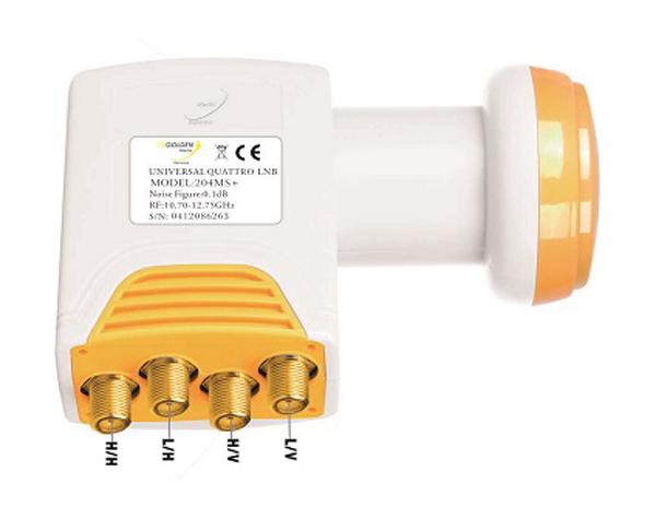 Satelitní konvertor Golden Media GI204 MS+ 0.1dB quatro