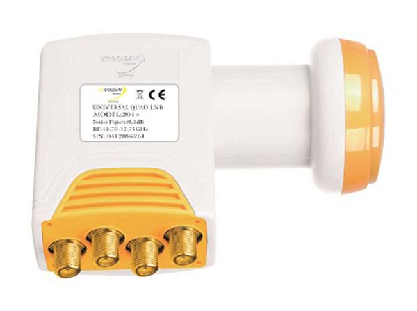 Satelitní konvertor Golden Media GI204+ 0.1dB quad