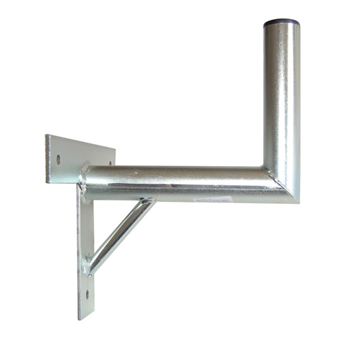 Držiak antén na stenu 25 s krížom a podperou priemer 42mm výška 16cm