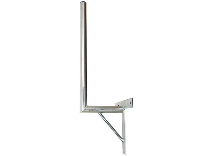 Držiak antén na stenu 25 s krížom a podperou priemer 42mm výška 70cm žiar.