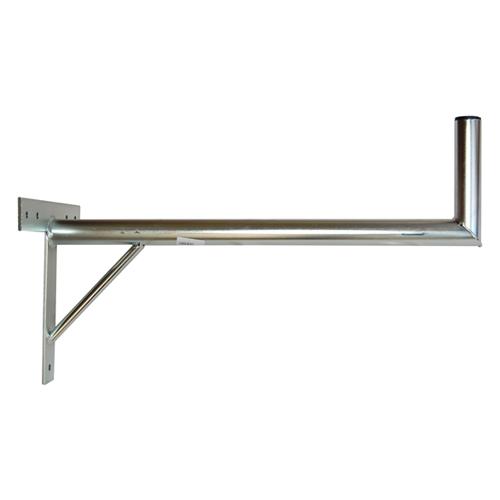 Držiak antén na stenu 70 s krížom a podperou priemer 42mm výška 16cm