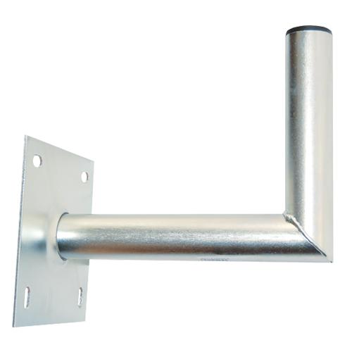 Držiak antén na stenu 25 s platňou 16x16cm priemer 42mm výška 16cm žiar.