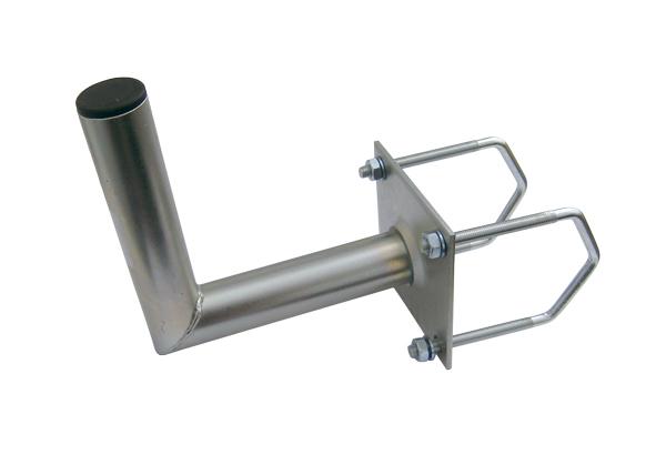 Držiak antén na balkon 25 na hranaté zábradlie priemer držiaku 42mm výška 16cm