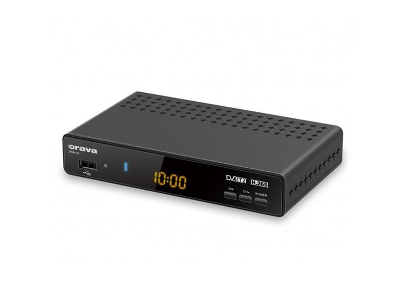 Terestriální přijímač ORAVA DVB-20, DVB-T2 (HEVC-H.265)