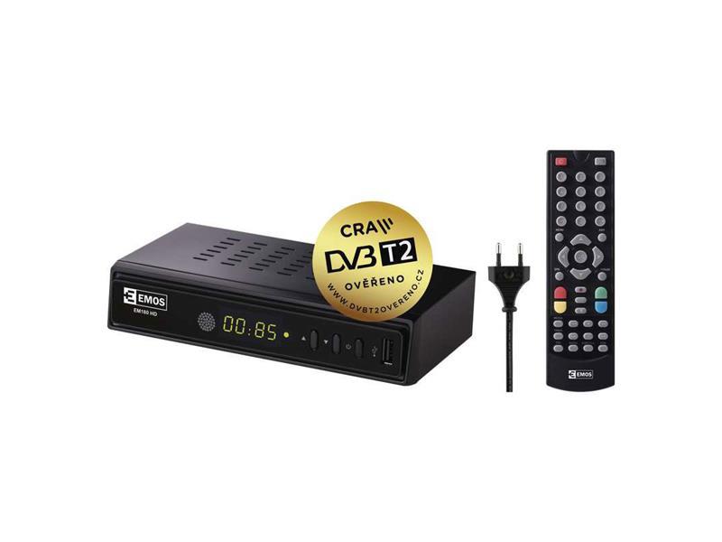EMOS EM180 HD HEVC H265 set top box (DVB-T2)