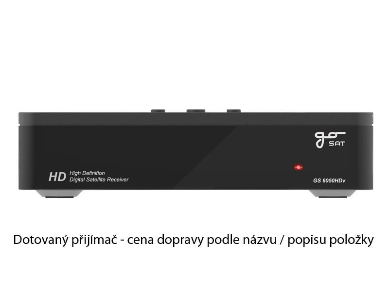 Satelitní přijímač GoSAT GS6050HDv - DOTOVANÝ - doprava zdarma od 5ks