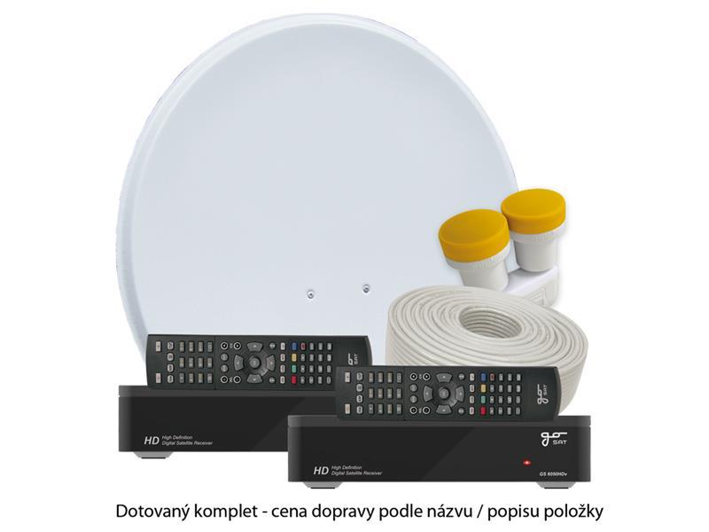 Satelitní přijímač GoSAT GS6050HDv DOTOVANÝ Dvojkomplet