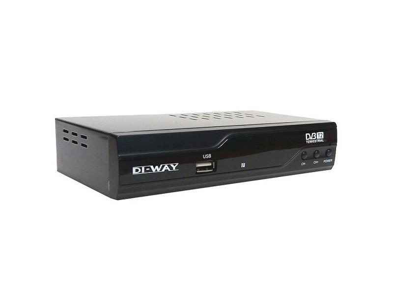 Terestriální přijímač DI-WAY T2-ONE HEVC H.265 DVB-T/T2, CRA T2 Ověřeno