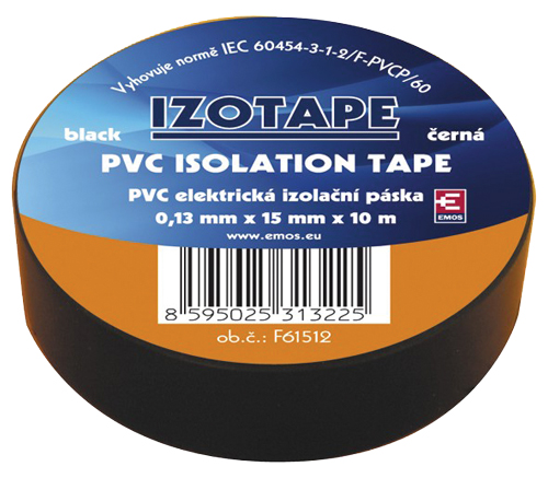 Izolační páska PVC 15/10m černá