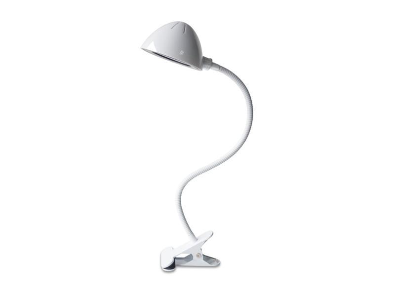 Lampa LED stolná IMMAX CLIP biela 08925L