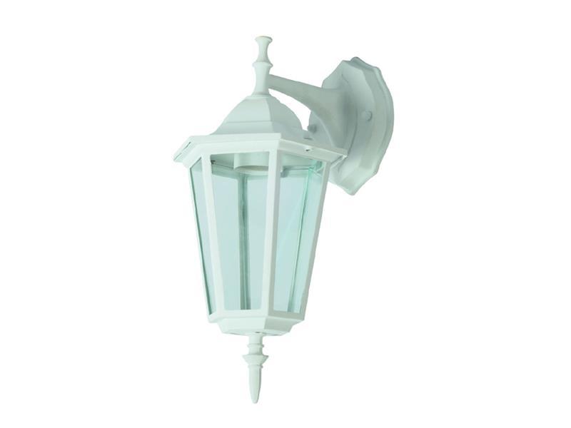 Zahradní svítidlo nástěnné, bílé, DOWN, VT-750