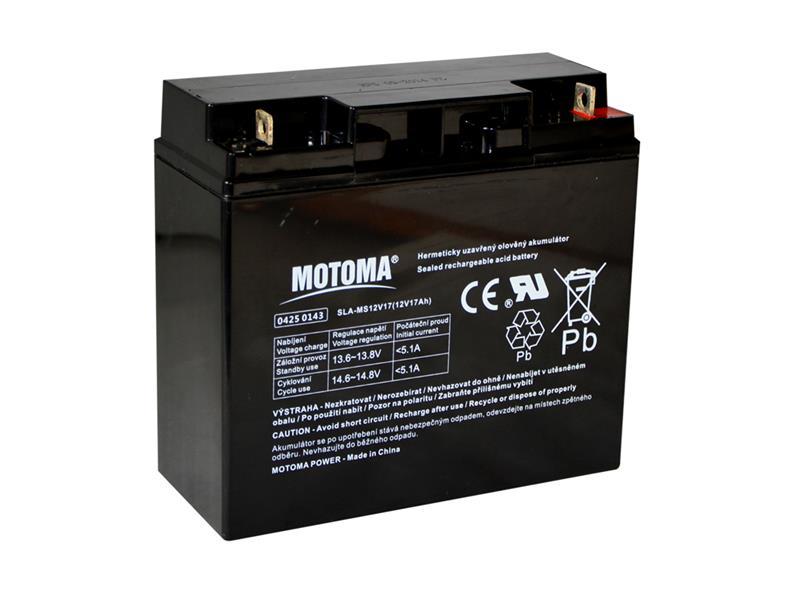 Batéria olovená 12V 17Ah MOTOMA bezúdržbový akumulátor