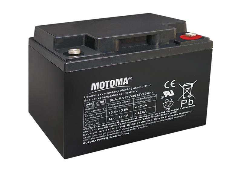 Batéria olovená 12V 40Ah MOTOMA bezúdržbový akumulátor