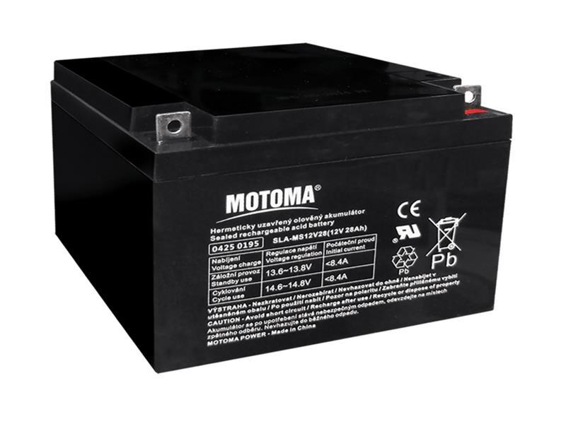 Batéria olovená 12V 28Ah MOTOMA bezúdržbový akumulátor