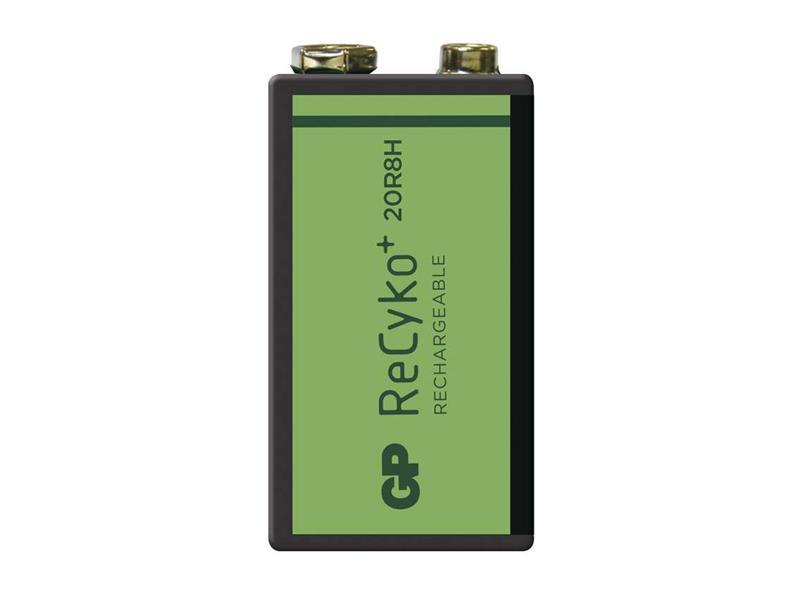 Baterie 6F22 (9V) nabíjecí GP Recyko+ 200mAh