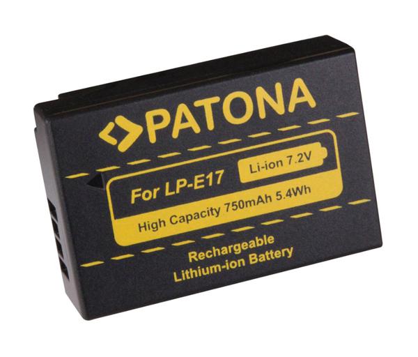 Batérie foto CANON LP-E17 750mAh PATONA PT1250