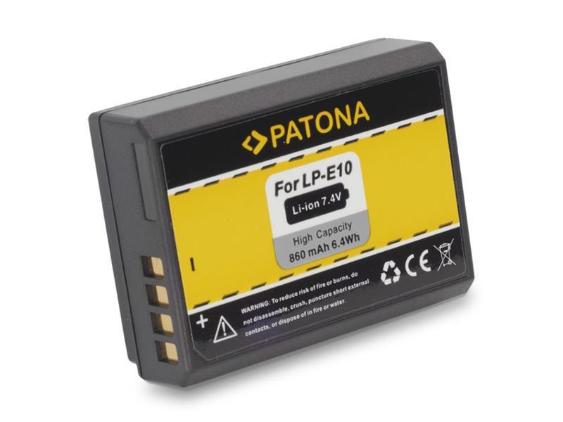 Batérie foto CANON LP-E10 860mAh PATONA PT1089
