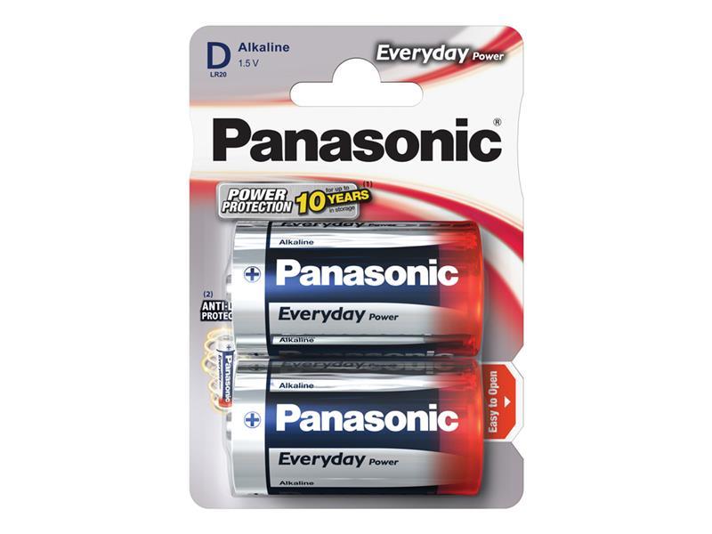 Baterie D (R20) alkalická PANASONIC Everyday Power LR20 2BP