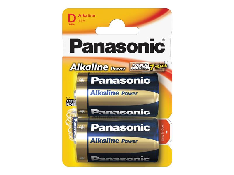 Baterie D (R20) alkalická PANASONIC Alkaline Power LR20 2BP