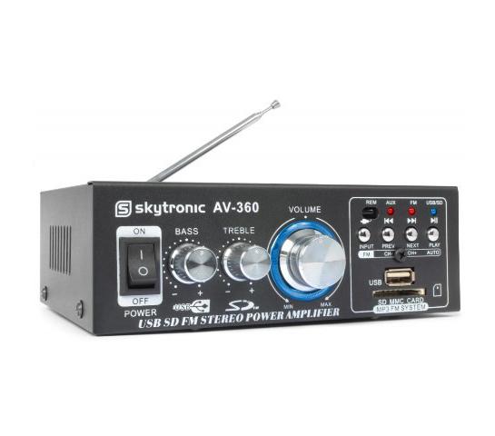 Zosilňovač HiFi 2x 40W FM / USB /SD SKYTEC