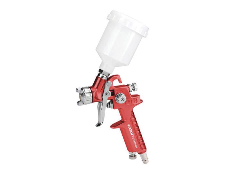 Pištoľ striekacia s nádobkou zhora a funkciou HVLP, max. prac. tlak 210kPa EXTOL PREMIUM