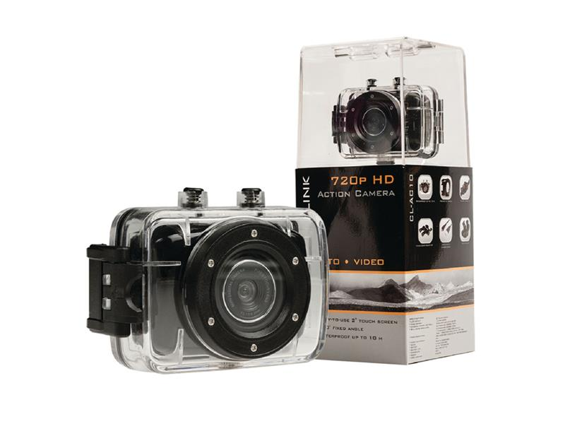 """Kamera akčné HD 720p, LCD 2"""", vodeodolná 10m CAMLINK CL-AC10"""
