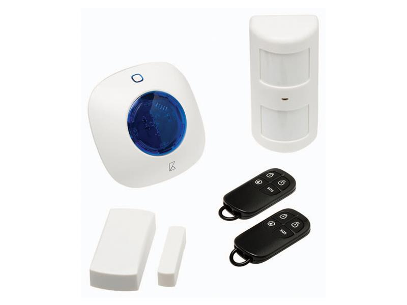 Alarm bezdrôtový 1x siréna, 1x PIR, 1x dverné/okenný snímač KÖNIG SAS-ALARM310