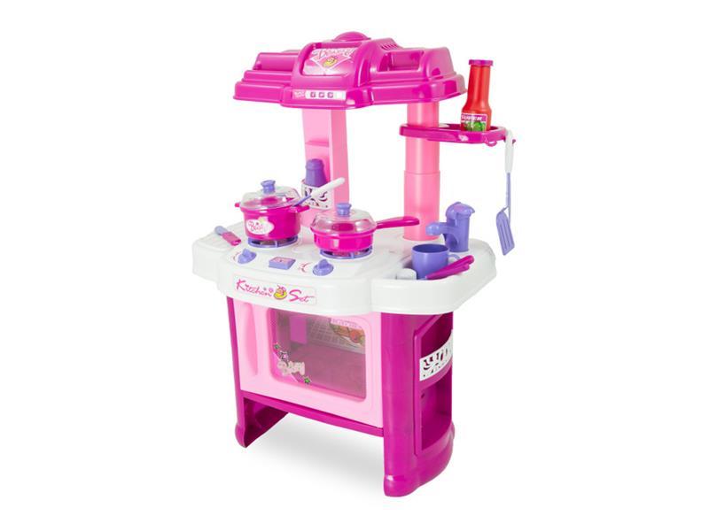 Kuchynka detská G21 s príslušenstvom ružová