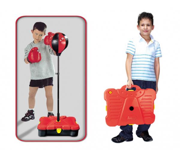 Balón boxovacie G21 detský s príslušenstvom v kufri