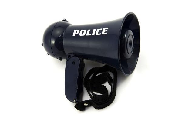 Megafón detský TEDDIES POLICIE