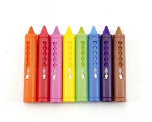 Pastelky do vane TEDDIES detské farebné