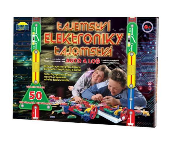 Stavebnica elektronická DROMADER TAJEMSTVÍ ELEKTRONIKY AUTO detská