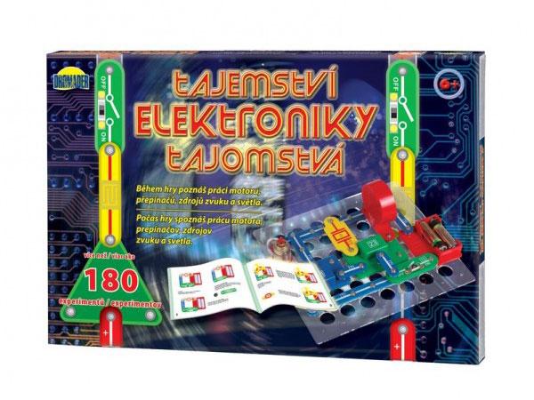 Stavebnica elektronická DROMADER TAJEMSTVÍ ELEKTRONIKY 180 EXPERIMENTŮ detská