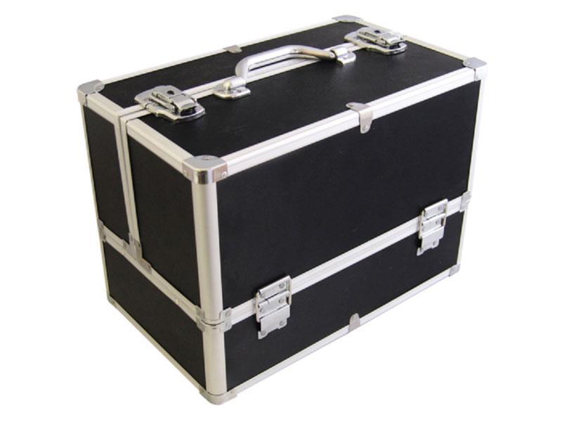 Kufrík kozmetický PROTEC hliník čierny matný